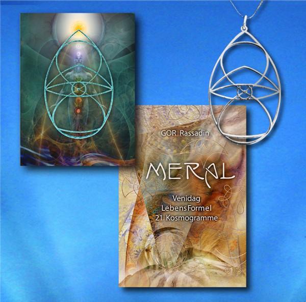 M E R A L - PAKET Amulett+Buch+Kartenset